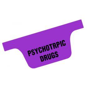 Chart Divider Tab - Psychotropic Drugs - Tyvek - Side