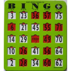 EZ Read Finger Tip Bingo Card