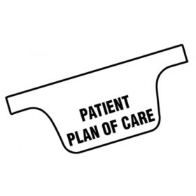 Chart Divider Tab - Patient Plan of Care - Tyvek - Side