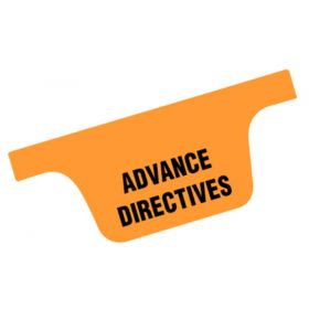 Chart Divider Tab - Advance Directives - Tyvek - Side