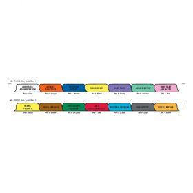 Chart Divider Set - Tyvek - Hospice - 14 Tabs Side