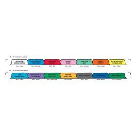 Chart Divider Set - Paper - Home Care/Hospice - 14 Tabs Side