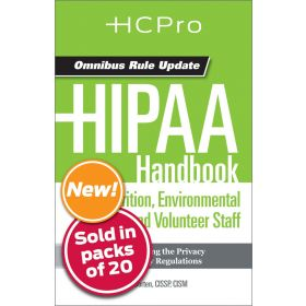 HIPAA Handbook for Nursing & Clinical Staff4713