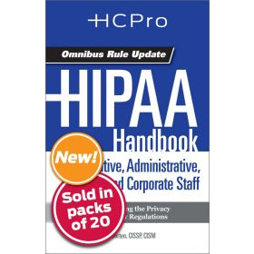 HIPAA Handbook for Nursing & Clinical Staff4719