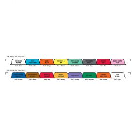 Chart Divider Set - Paper - Long-Term Care - 16 Tabs Side