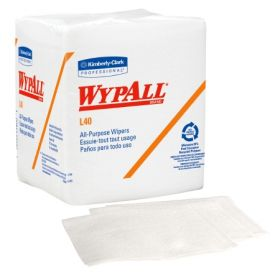 Task Wipe WypAll L40 Light Duty White NonSterile