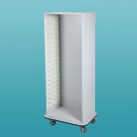 Easy Exchange System Cart - Tall - White