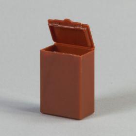 Flip Top Boxes, Amber, 4 Dram
