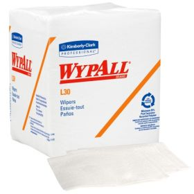 Task Wipe WypAll L30 Light Duty White NonSterile