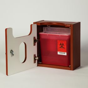 Cabinet for Sharps Container - White