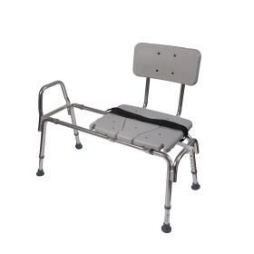 DMI Sliding Transfer Bench Shower Chair with Cut-Out Seat