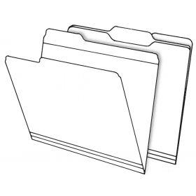 Top Tab File Folders - Manila - 1/3 Cut Tab