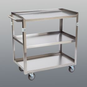 Stainless Steel Utility Cart, 3-Shelf