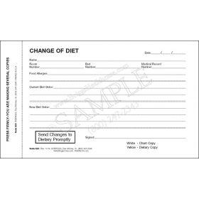 Change of Diet Form 2-Part