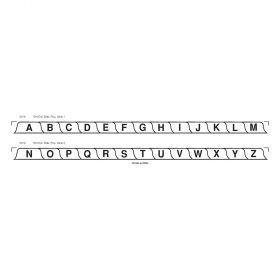 Chart Divider Set - Poly - A-Z - 26 Tabs Side