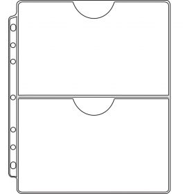 2-Pocket Record Protector - Side Punched - Top Open - Clear