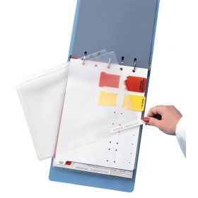 Ident-A-Pocket Record Protector with Insert Cards, Side Punched