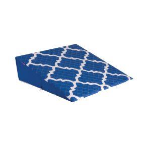 HEALTHSMART PREMIUM FOAM BED WEDGE  BLUE MOROCCAN