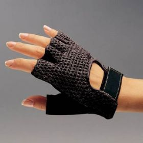 Impact Glove Biosoft Palm Guard Half Finger X-Large Black Hand Specific Pair