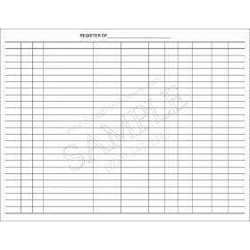 All-Purpose Blank Register Ledger Book