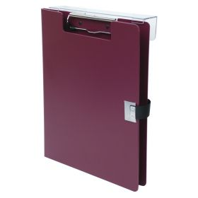 Clipboard - Poly - Covered - Overbed - Burgundy