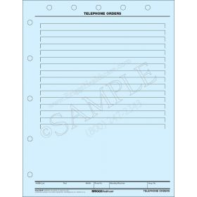 Telephone Orders Mount Sheet