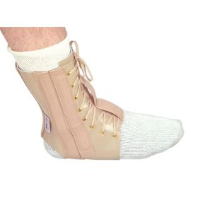 Leather Lace Up Ankle Immobilizer