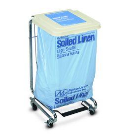 Medical Action Premier Step-On Covered Hamper Stands, Soiled Linen