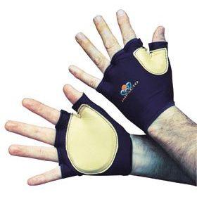 Impact Glove IMPACTO Fingerless Medium Black / Tan Hand Specific Pair