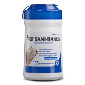 Hand Sanitizing Wipe Sani-Hands 135 Count Ethyl Alcohol Wipe Canister