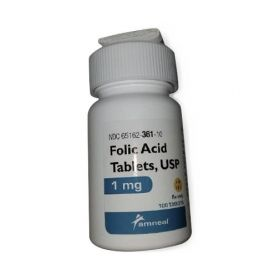 Folic Acid Tablet, 1 mg, 100/Bottle