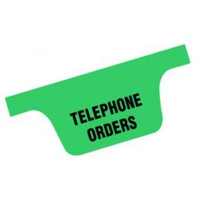Chart Divider Tab - Telephone Orders - Tyvek - Side