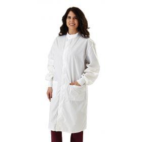 ASEP Unisex Antistatic Lab Coat, White, Size S