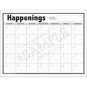Happenings Giant Wall Calendar 6704