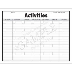 Activities Giant Wall Calendar
