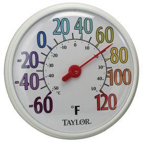 """Taylor 6714 13.5"""" Color Dial Thermometer"""