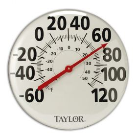 """Taylor 681 18"""" Dial Metal Patio Thermometer"""