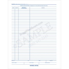 Nurse's Notes 2-Sided Form 691/2