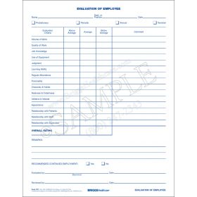 Evaluation of Employee Form