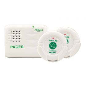 Caregiver Wireless Departure & Fall Prevention 2-Pendant Paging