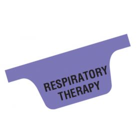 Chart Divider Tab - Respiratory Therapy - Tyvek - Bottom