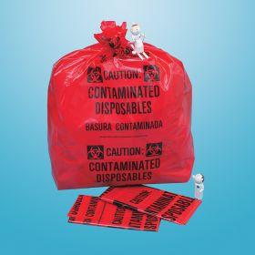 Biohazard Bags - X-Large, 33-Gallon, 20 x 39 x 12-1/4