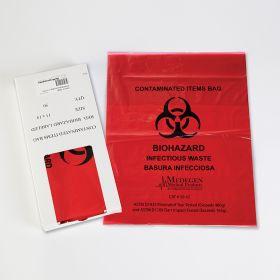 Small Biohazard Bags, 11-1/4 x 14-1/2