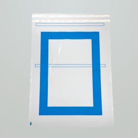 Security Bags w/ Blue Border for Full-Size Crash Cart Boxes, 29 x 20