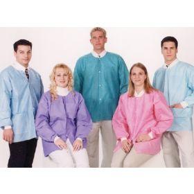 Lab Jacket ValuMax Extra-Safe Medical Blue Medium Hip Length Limited Reuse