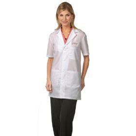 Lab Coat White Medium Hip Length Reusable