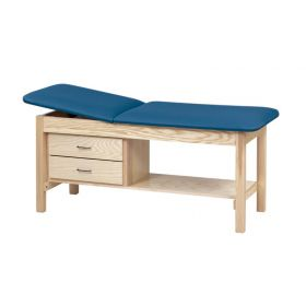 Clinton  Treatment Table with Shelf and Drawers
