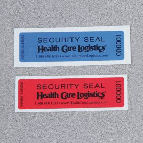 Self-Adhesive Tamper-Indicating Seals, Removable Adhesive - Red