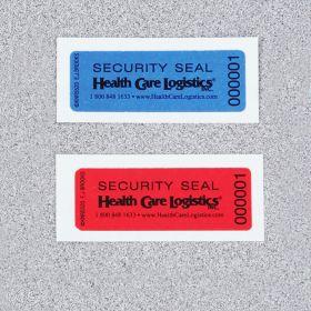 Self-Adhesive Tamper-Indicating Seals, No Residue - Red