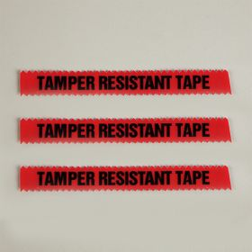 """Tamper Resistant Tape, Red, 1/2""""W x 108'"""